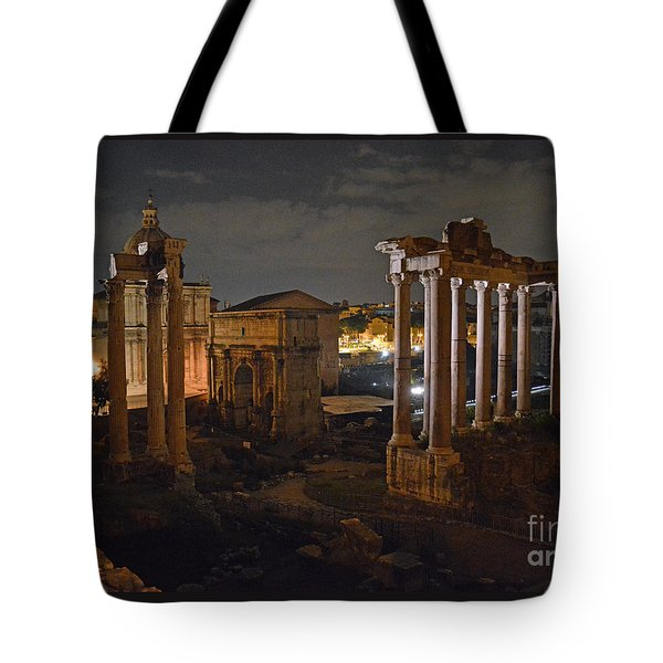 Roman Forum At Night 2 Tote Bag