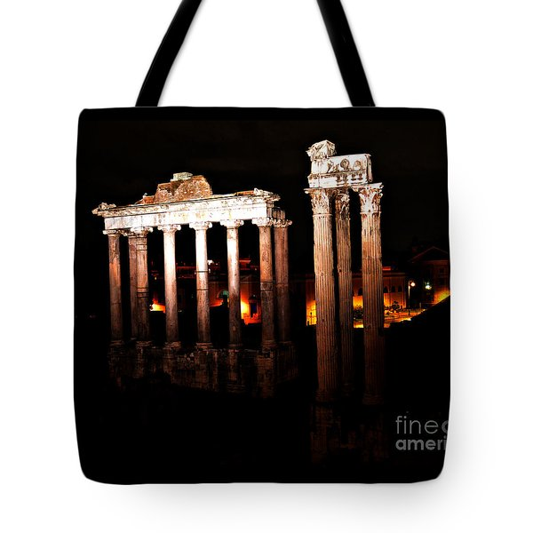 Roman Forum At Night Tote Bag