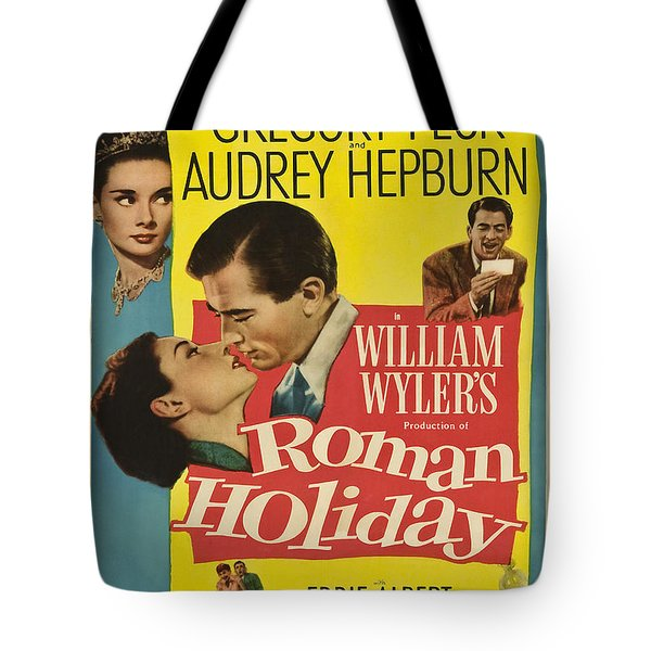 Roman Holiday - 1953 Tote Bag by Georgia Fowler