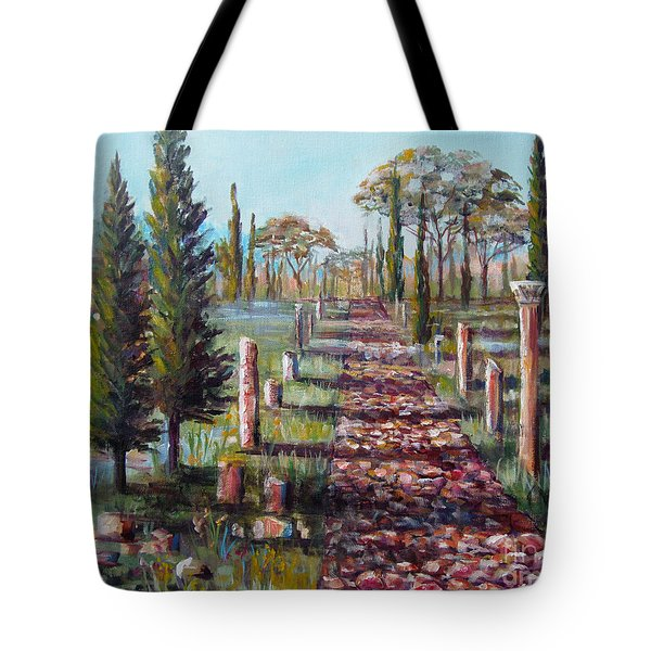 Roman Road Tote Bag by Lou Ann Bagnall