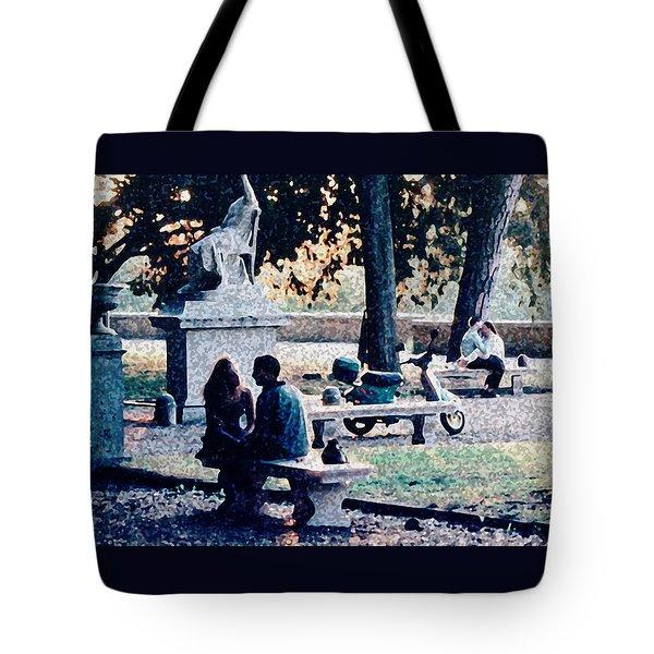 Roman Romance Tivoli Gardens Tote Bag
