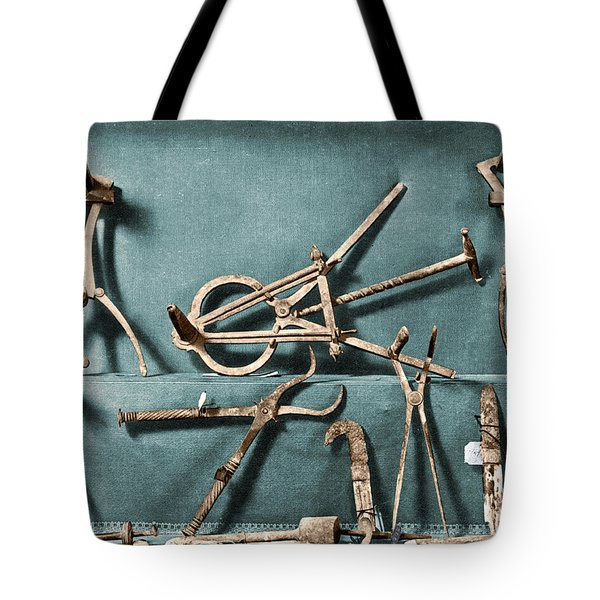 Tote Bag featuring the photograph Roman Surgical Instruments, 1st Century by Science Source