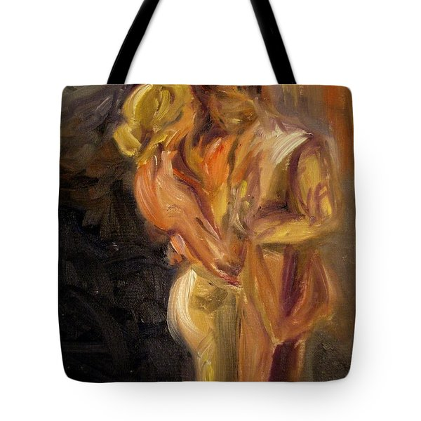 Tote Bag featuring the painting Romance by Donna Tuten