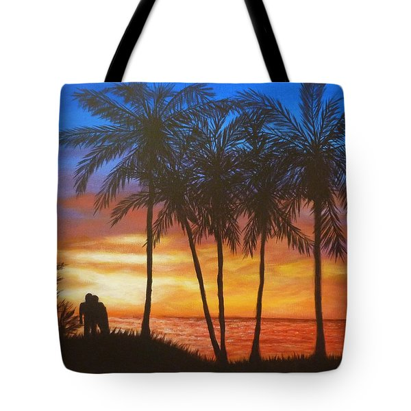 Romance In Paradise Tote Bag