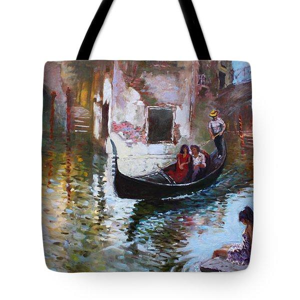 Romance In Venice 2013 Tote Bag by Ylli Haruni