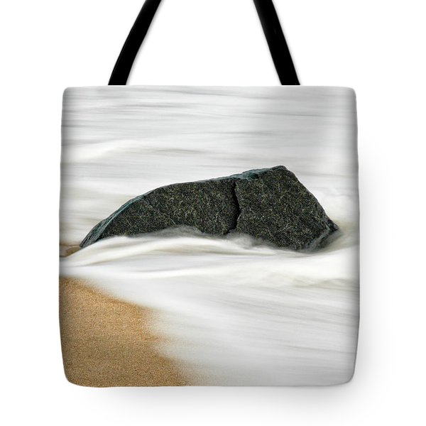 Surf Caresses A Lonely Stone Tote Bag