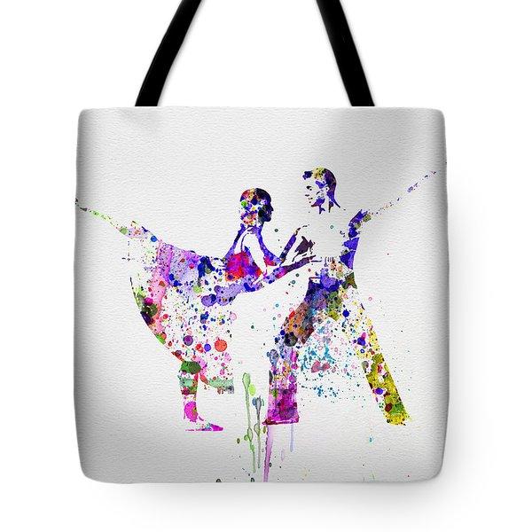 Romantic Ballet Watercolor 2 Tote Bag by Naxart Studio