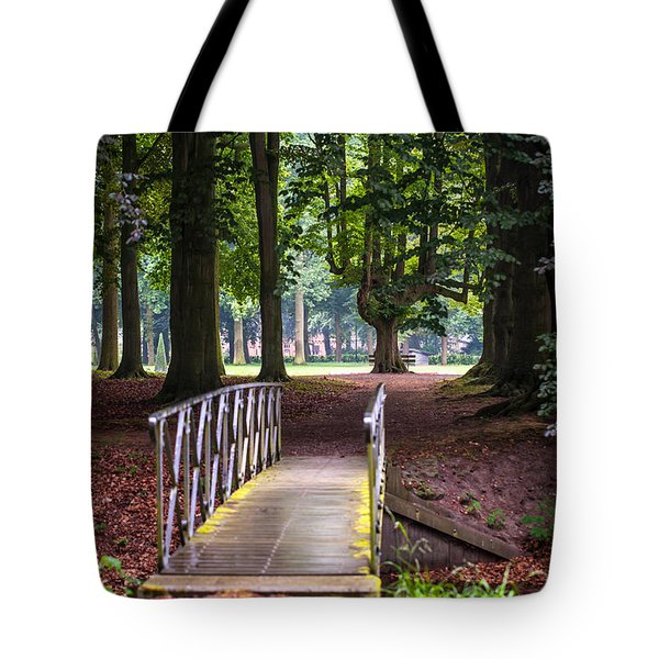 Romantic Bridge To Shadow Place. De Haar Castle Tote Bag by Jenny Rainbow