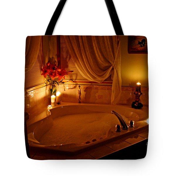 Romantic Bubble Bath Tote Bag by Kay Novy