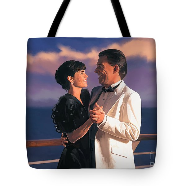 Tote Bag featuring the painting Romantic Cruise by Tim Gilliland