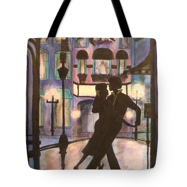 Romantic Dance Tote Bag by Lynne McQueen