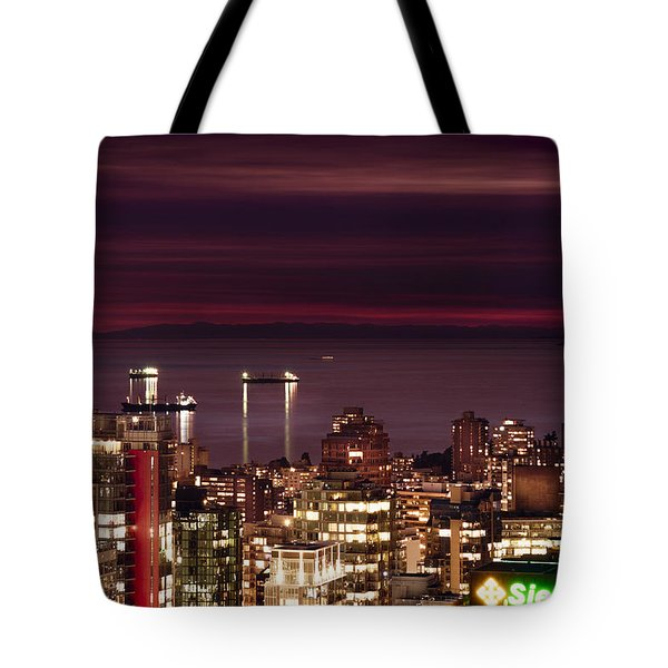 Tote Bag featuring the photograph Romantic English Bay Mdcci by Amyn Nasser