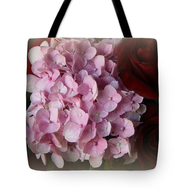 Tote Bag featuring the photograph Romantic Floral Fantasy Bouquet by Kay Novy