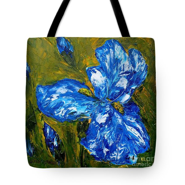 Romantic Iris Tote Bag