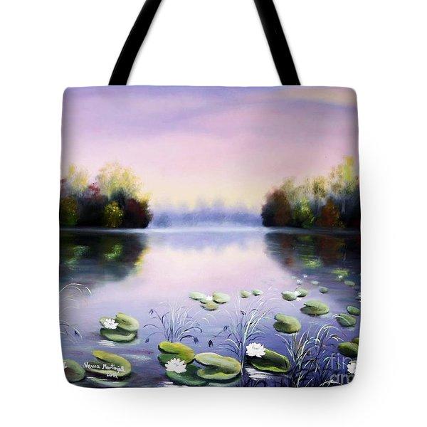 Romantic Lake Tote Bag by Vesna Martinjak