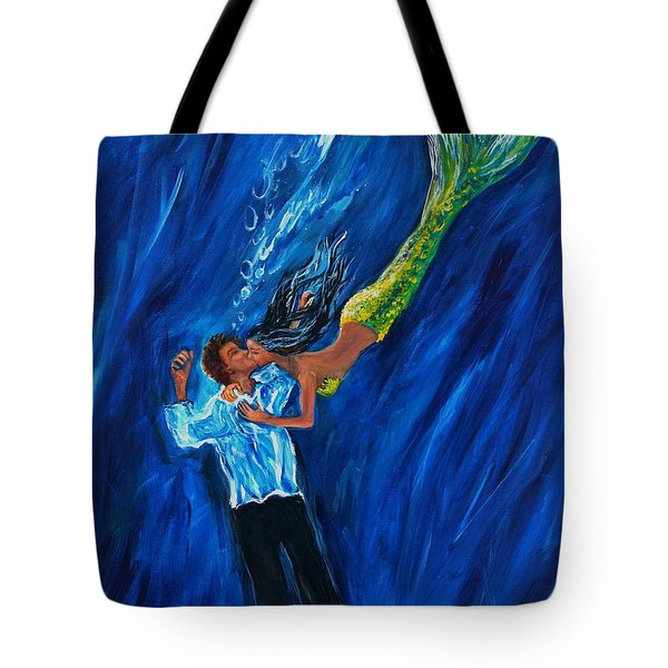 Romantic Rescue Tote Bag by Leslie Allen