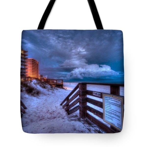 Romar Beach Clouds Tote Bag