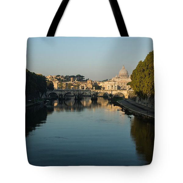 Tote Bag featuring the photograph Rome Waking Up by Georgia Mizuleva