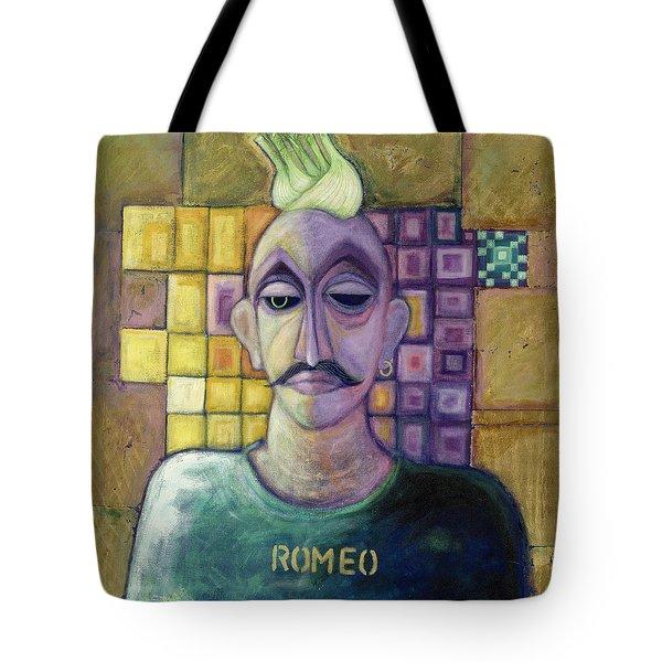 Romeo, 1970 Acrylic & Metal Leaf On Canvas Tote Bag