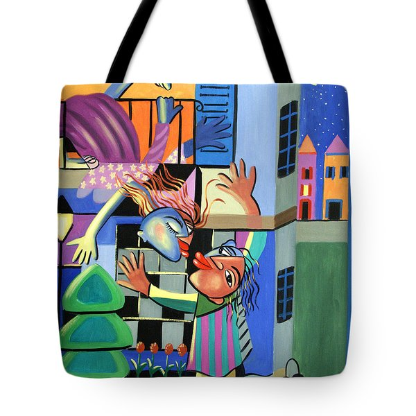 Romeo And Juliet Tote Bag by Anthony Falbo