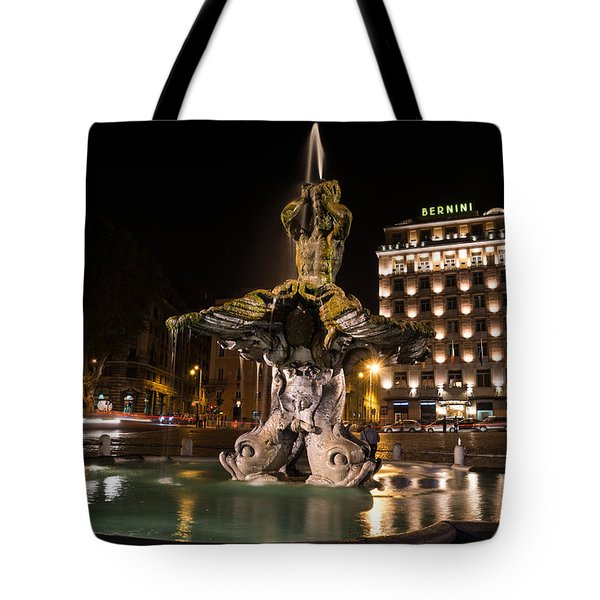 Rome's Fabulous Fountains - Bernini's Fontana Del Tritone Tote Bag