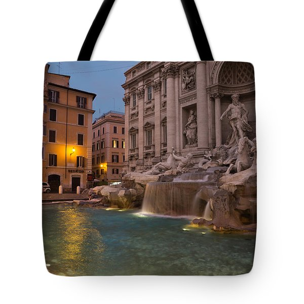 Rome's Fabulous Fountains - Trevi Fountain At Dawn Tote Bag