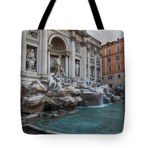 Rome's Fabulous Fountains - Trevi Fountain No Tourists Tote Bag