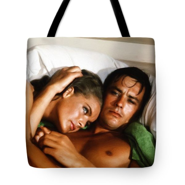 Romy Schneider And Alain Delon Tote Bag