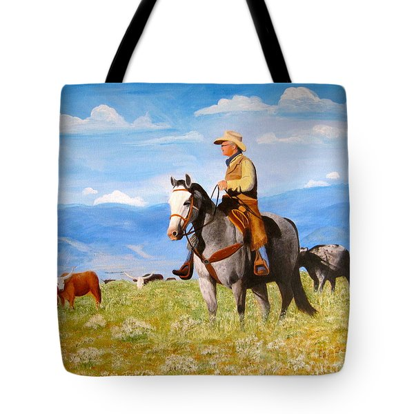 Ron And  Cash At Work Tote Bag