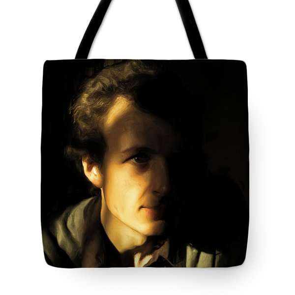 Tote Bag featuring the digital art Ron Harpham by Ron Harpham