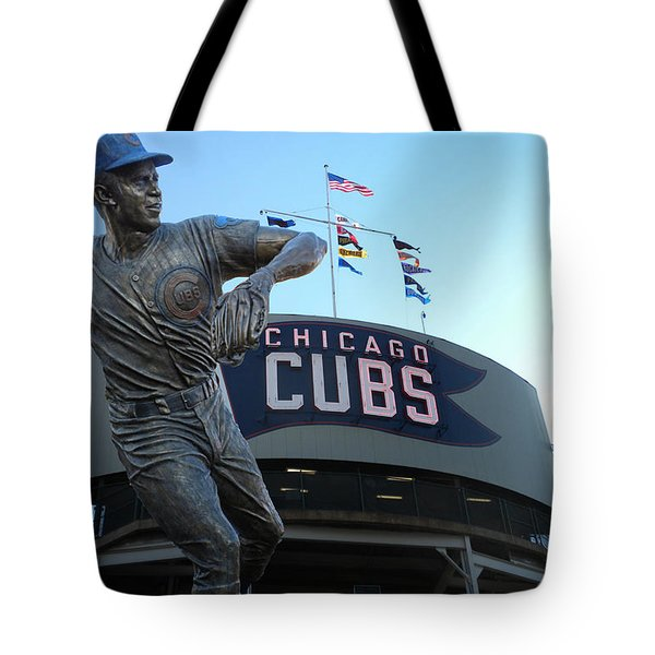 Ron Santo Chicago Cubs Statue Tote Bag by Thomas Woolworth
