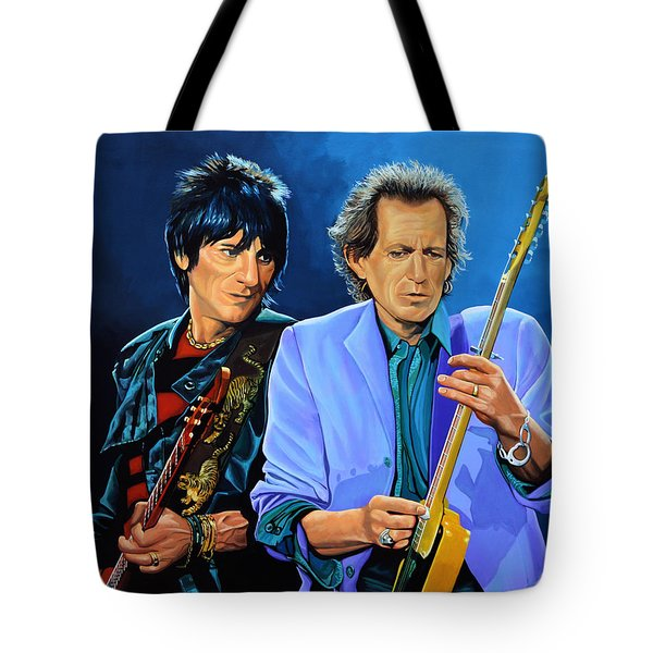 Ron Wood And Keith Richards Tote Bag