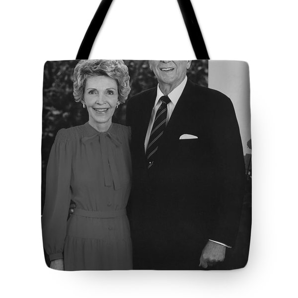 Ronald And Nancy Reagan Tote Bag by War Is Hell Store