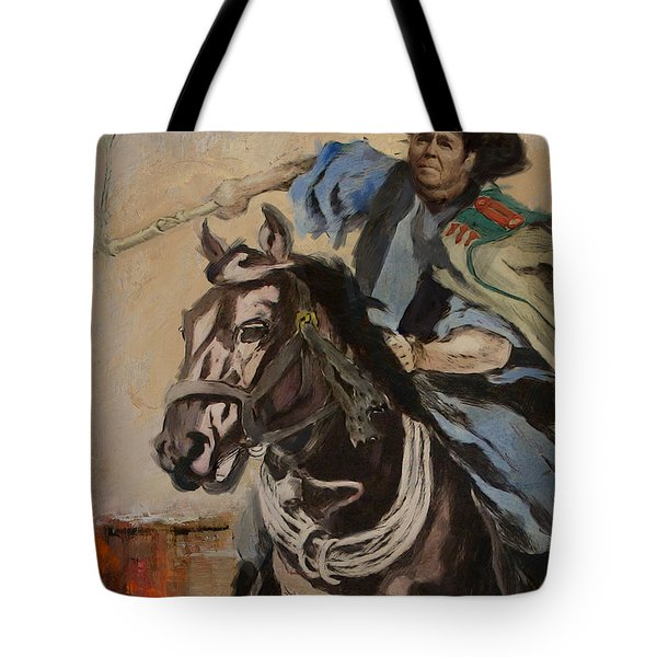 Ronald Reagan Portrait 3 Tote Bag by Corporate Art Task Force