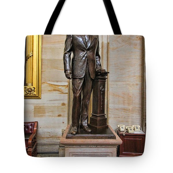 Ronald Regan -  U S Capitol Statuary Hall Tote Bag by Allen Beatty