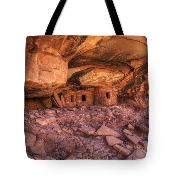 Roof Falling In Ruin 2 Tote Bag by Bob Christopher