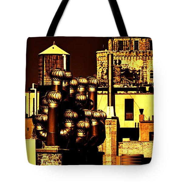 Roof Yellow Orange Tote Bag