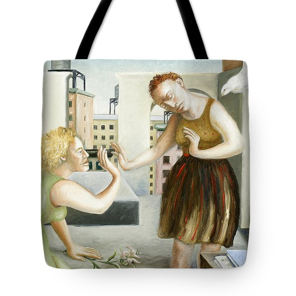 Rooftop Annunciation One Tote Bag by Caroline Jennings