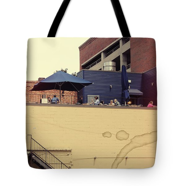 Rooftop Lunch Tote Bag by Paulette B Wright