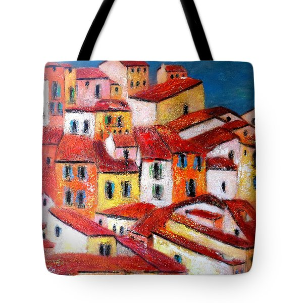 Rooftops Collioure Tote Bag