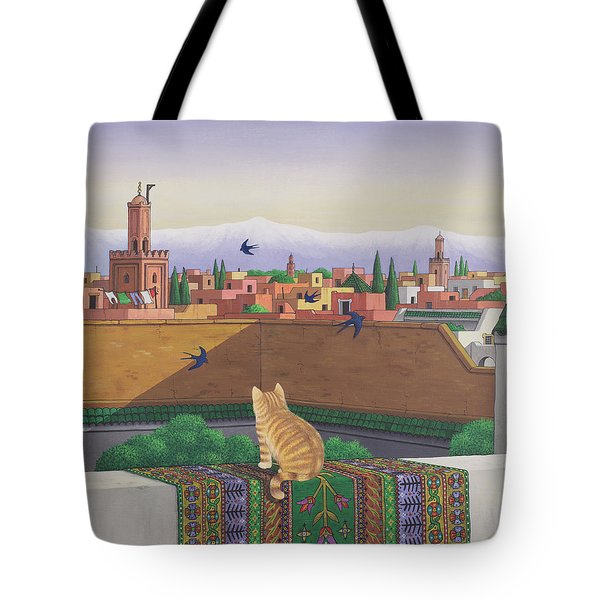 Rooftops In Marrakesh Tote Bag by Larry Smart