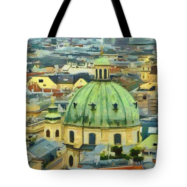 Rooftops Of Vienna Tote Bag by Jeffrey Kolker