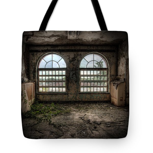 Room With Two Arched Windows Tote Bag by Gary Heller