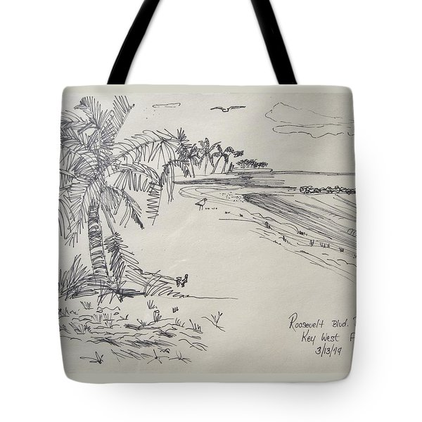 Roosevelt Blvd Beach  Key West Fla Tote Bag
