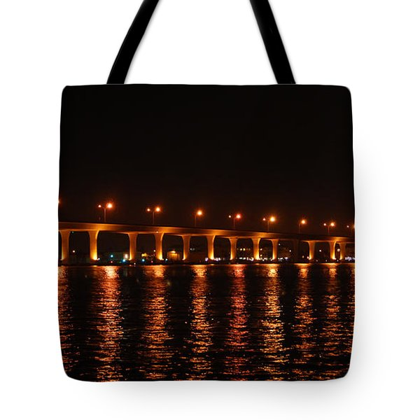 Tote Bag featuring the photograph Roosevelt Bridge Panorama by Olga Hamilton