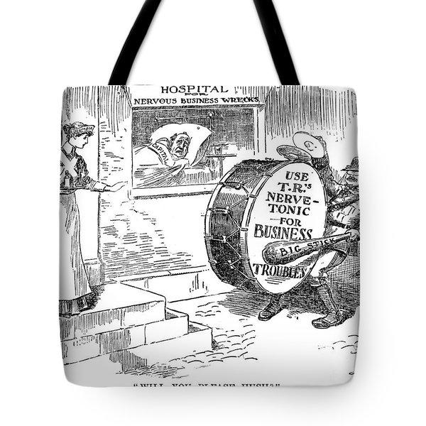 Roosevelt Cartoon, 1908 Tote Bag by Granger