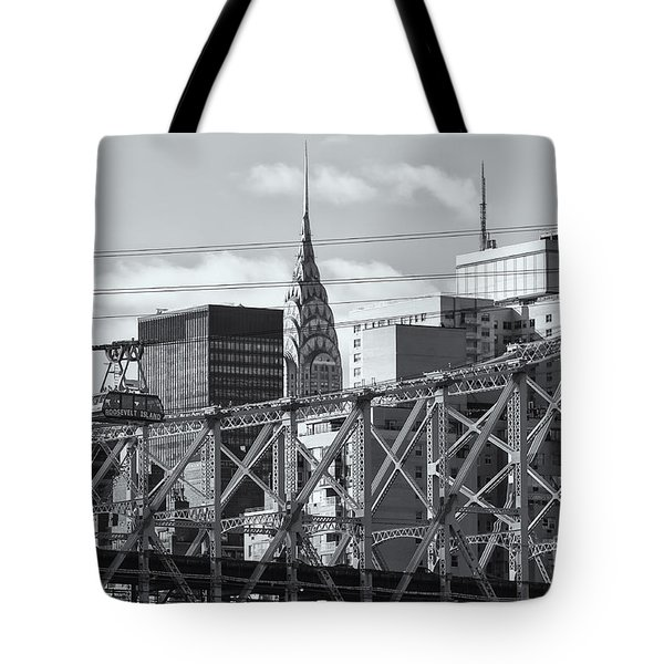 Roosevelt Island Tram And Manhattan Skyline II Tote Bag