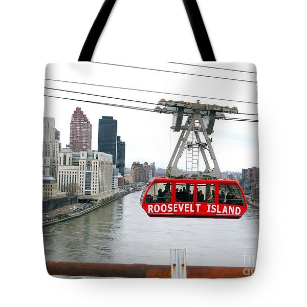 Roosevelt Island Tram Tote Bag by Ed Weidman