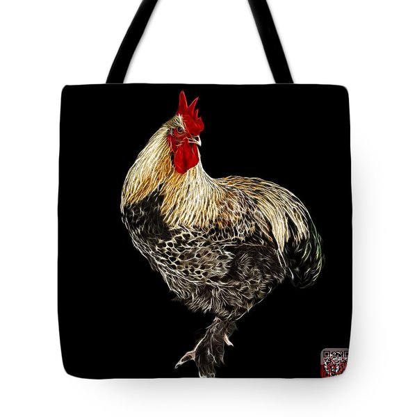 Tote Bag featuring the painting Rooster 3166 F by James Ahn