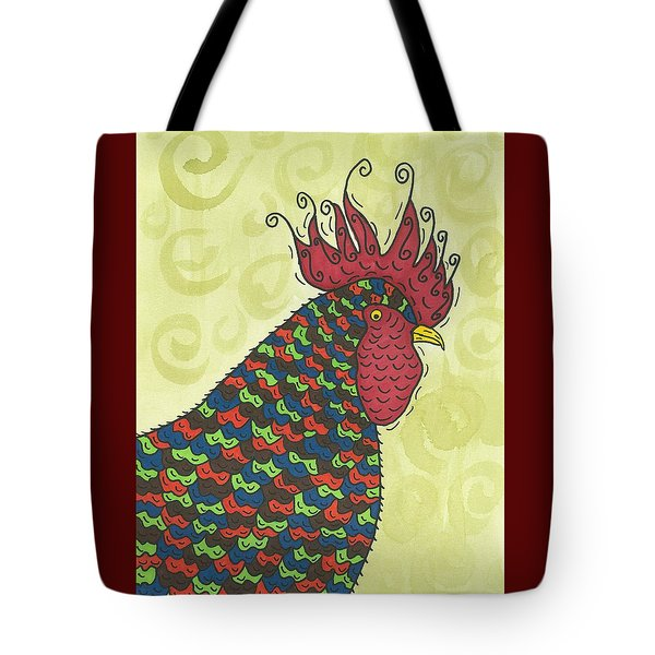 Tote Bag featuring the painting Rooster Comb by Susie Weber
